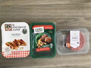 vegetarische producten in verpakking