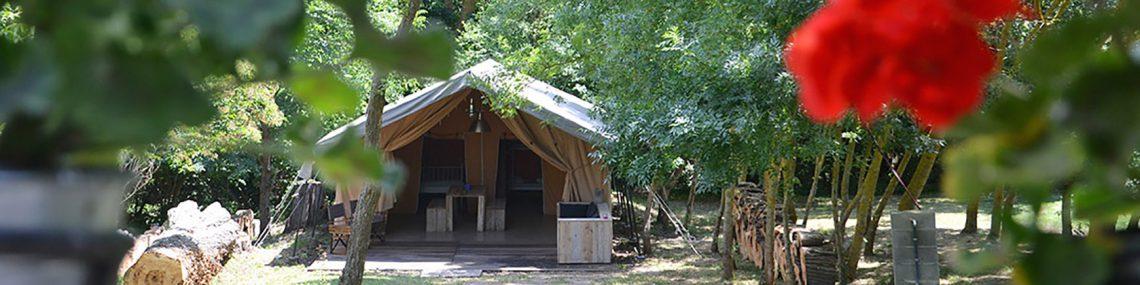 safari tent Domaine en Birbes