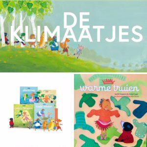 de klimaatjes banner en boeken