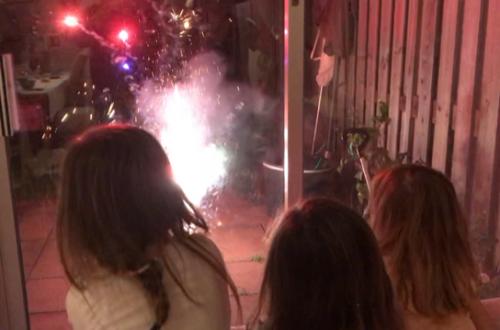 vuurwerk voor de meisjes