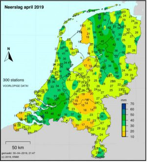 gemiddeld regen maand april
