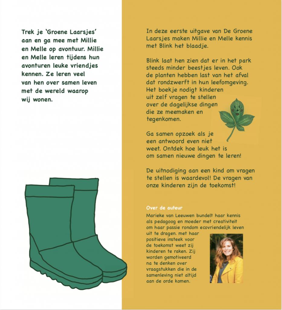Millie en Melle kinderboekje zwerfafval Fairhups de groene laarsjes